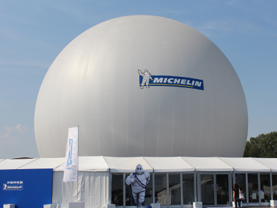 Michelin Event Venue 25m Blackout Black Out Corporate Graphics Branded Stratosphere Venue